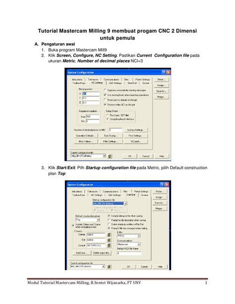 tutorial website untuk pemula tutorial mastercam milling 9 untuk pemula1