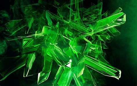 Wallpaper Crystal Green | green crystals 3d graphics wallpapers and images