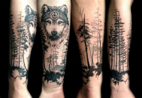 wolf forest tattoo by sofimaki tattoo ideas pinterest