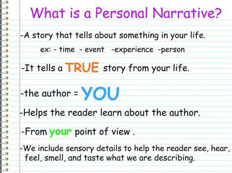 What Is A Personal Narrative Essay what is a personal narrative writing a personal narrative