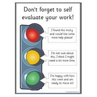 traffic light poster for classroom self evaluation traffic lights free classroom