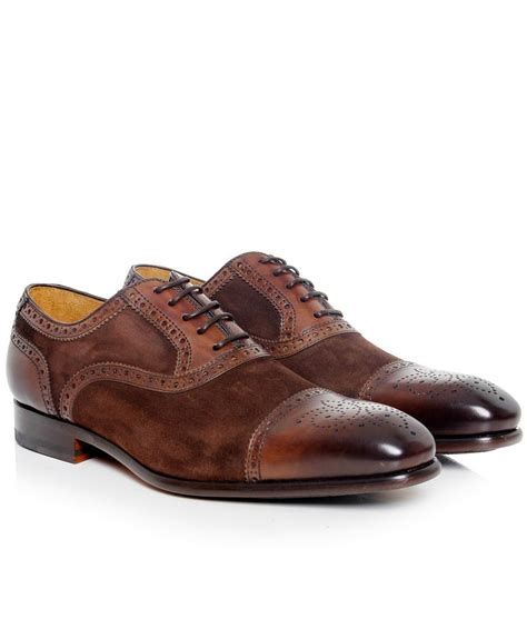 magnanni oxford shoes magnanni brown leather suede oxford shoes available at