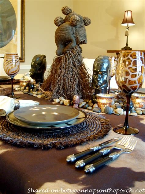 african themed decor a birthday celebration with a safari themed table setting