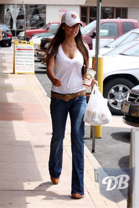celebrity hudson jeans celebs in denim vanessa minnillo in hudson jeans