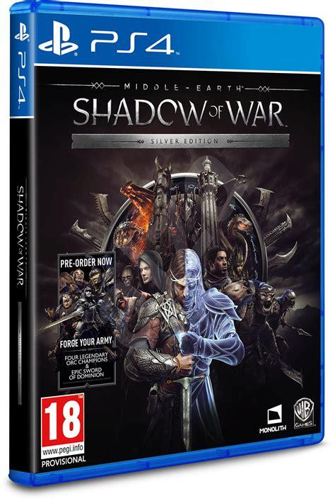 Middle Earth Shadow Of War Silver Edition Reg 3 Ps4 middle earth shadow of war silver edition ps4 console