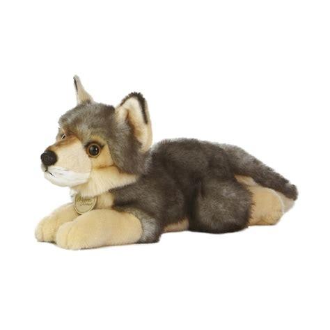 realistic stuffed realistic stuffed wolf 11 inch plush animal by