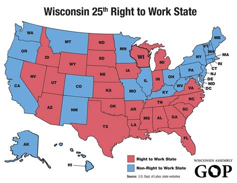 map to work workers in right to work states are less likely to access to retirement plans nh labor news