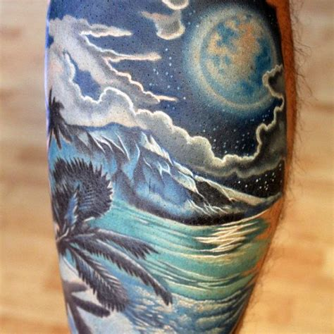 tropical tattoos for men 75 tattoos for serene shore designs