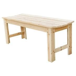 target garden bench backless garden bench natural 4 feet target
