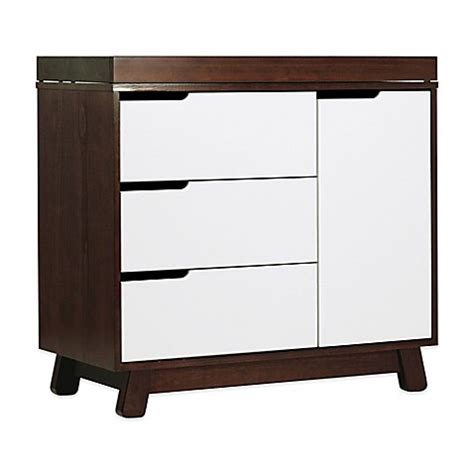 Babyletto Hudson Changing Table Buy Babyletto Hudson 3 Drawer Changer Dresser In Espresso And White From Bed Bath Beyond