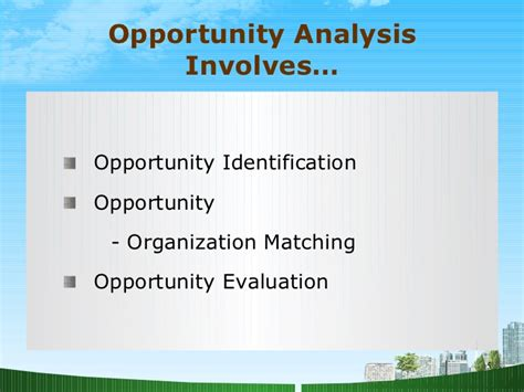 Mba Ppt On Satisfaction by Opportunity Analysis Ppt Mba Bec Doms
