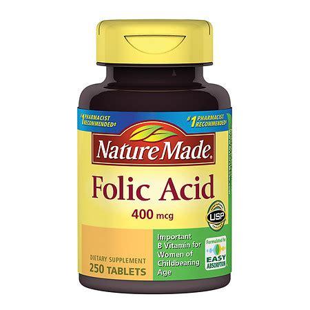 Vitamin Folic Acid nature made folic acid 400 mcg walgreens