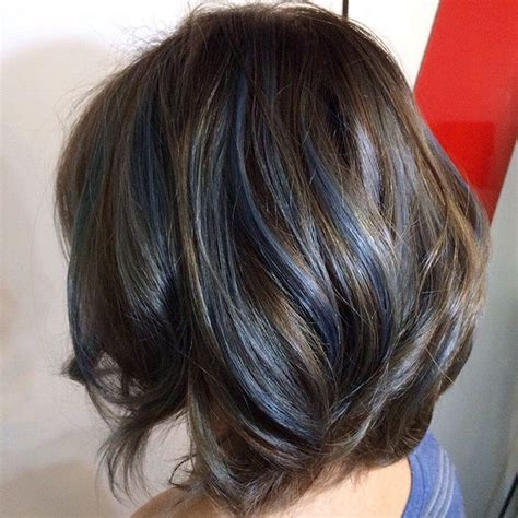 original hair color brown hair with blue highlights www pixshark