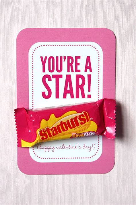 starburst valentines you re a w free printable made these for