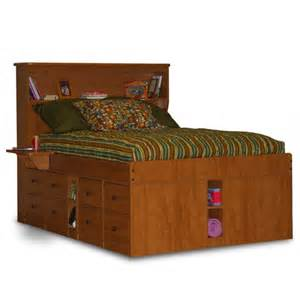king size captains bed with drawers woodworking projects amp plans