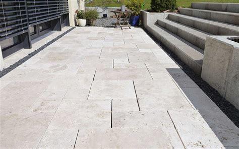 terrasse travertin travertin naturstein terrasse terrassenplatten kaufen