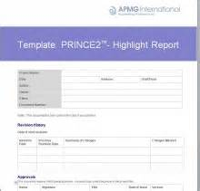 Highlight Report Template prince2 174 highlight report template apmg business books