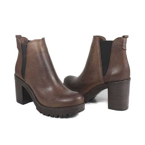 Ankle Chelsea Boots s ankle chelsea boots genuine leather brownfall winter