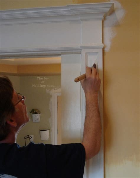 use paint levelers extenders when painting moldings the