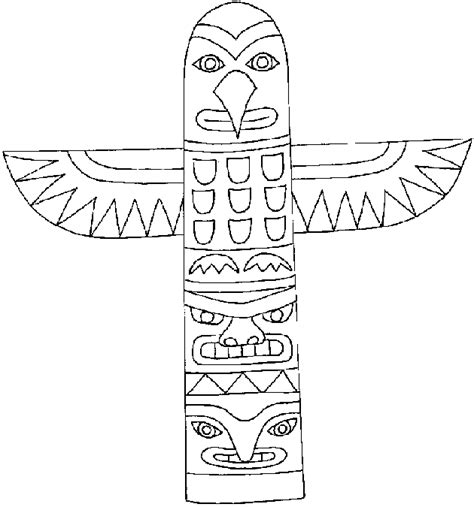 Totem Pole Template by Children S Writer Doodle A Day Totem Poles