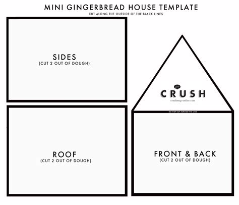 Card Crusher Template by Gingerbread House Template Images Template Design Ideas