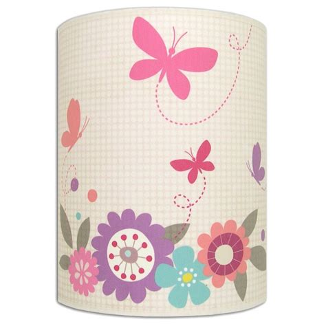 applique chambre d enfant applique murale papillon fuschia et fleurs multicolores