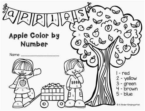apple number coloring pages a kinder kindergarten apple color by number