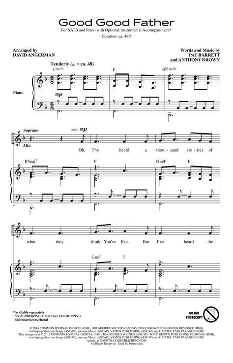 good good father sheet music direct good good father sheet music direct