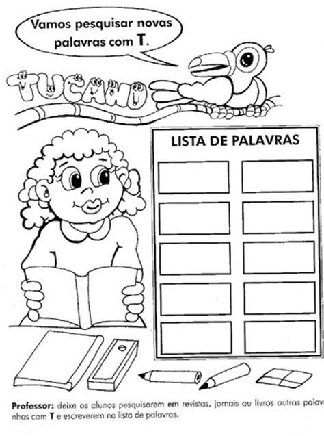 fichas de trabalho    ano lingua portuguesa parte