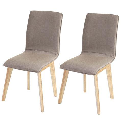 chaise tissu salle a manger lot de 6 chaises de salle 224 manger en tissu pied en bois