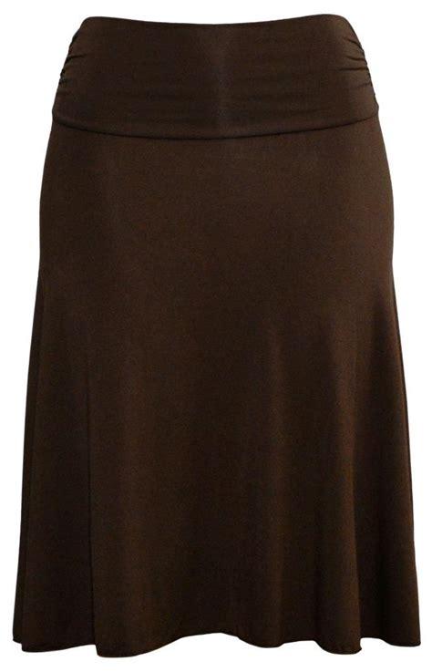 stretch is comfort s knee length flowy skirt ebay