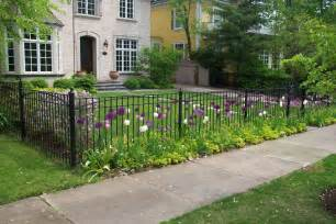 front yard iron fence front yard landscaping ideas with minimalist wrought iron