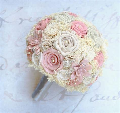 shabby chic wedding flowers wedding bouquet bridal bouquet shabby chic burlap sola flower lace babys