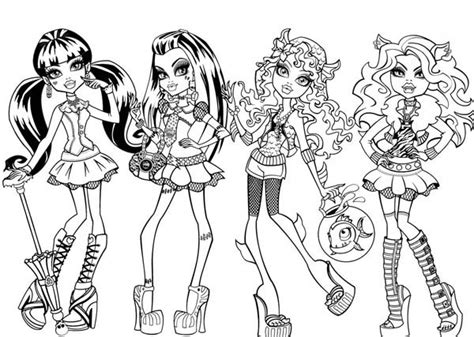 fashion show  monster high coloring page color luna