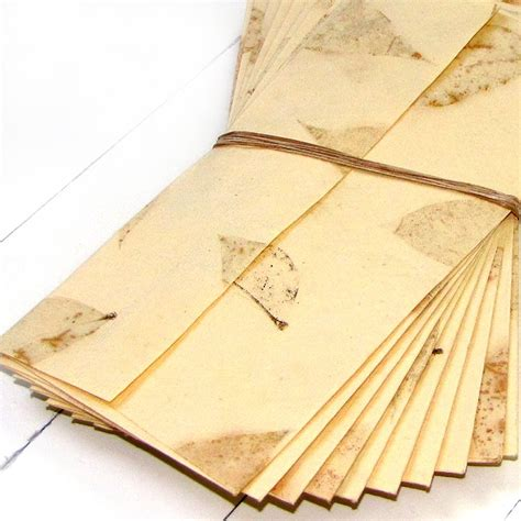 Handmade Paper Stationery - handmade tree free stationery paper small leaf set