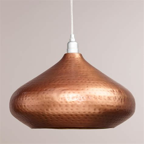 Hammered Copper Hanging Pendant L World Market Hammered Copper Pendant Lights