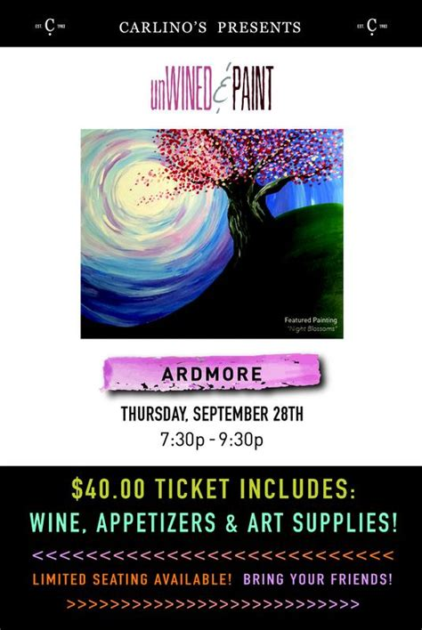 paint with a twist ardmore carlino s specialty foods tickets