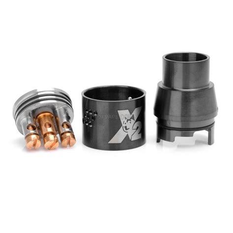 doge x v2 style rda rebuildable atomizer black stainless steel 22mm diameter 3fvape