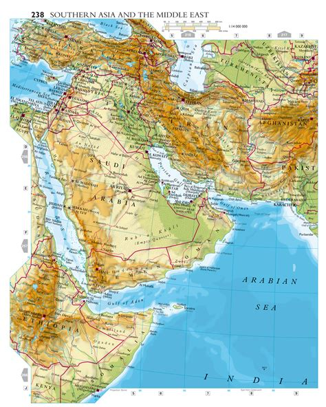 map of southern asia large detailed elevation map of southern asia and the