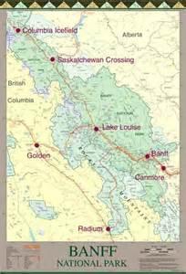 banff canada map gem trek publications banff national park