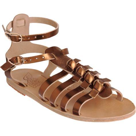 ancient sandal ancient sandals artemis in gold bronze lyst