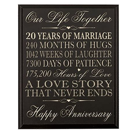 20th wedding anniversary wall plaque gifts for 20th anniversary gifts for 20th