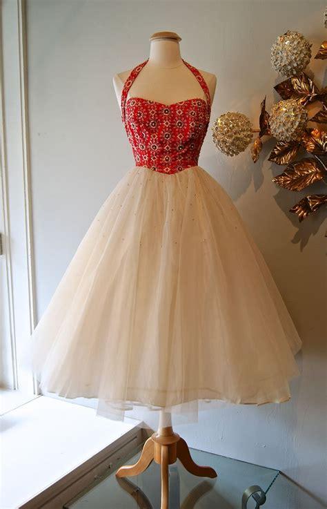 50 s cocktail dress vintage 1950 s vintage halter neck dress