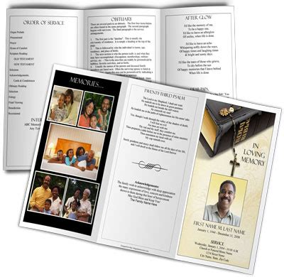 Templates For Order Of Service Funeral