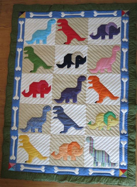 Dinosaur Quilt Patterns For Free by 17 Best Ideas About Quilt On Baby Quilts