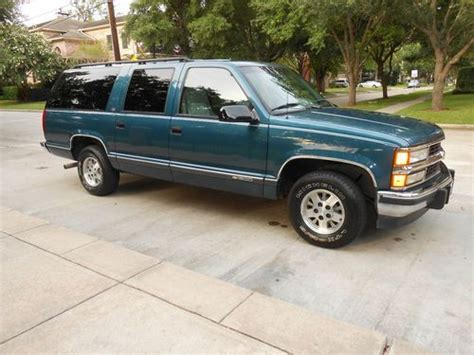 motor repair manual 1994 chevrolet suburban 1500 transmission control buy used 1994 chevrolet c1500 suburban silverado sport utility 4 door 5 7l one owner in houston