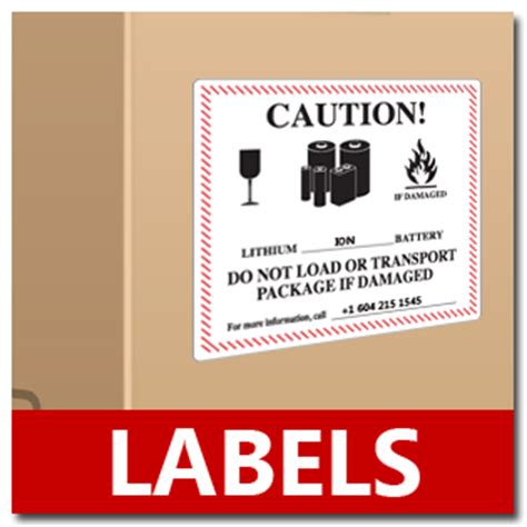 Shipping Lithium Batteries Lithium Ion Battery Label Template