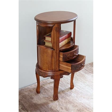 Telephone Table With Drawers by Telephone Table With 2 Drawers In Dual Walnut Stain 3874