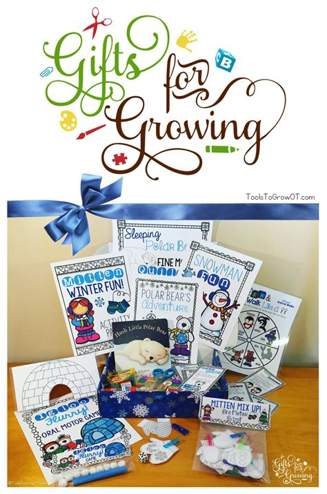Help With Gifts For - gifts for growing winter learning activity kit