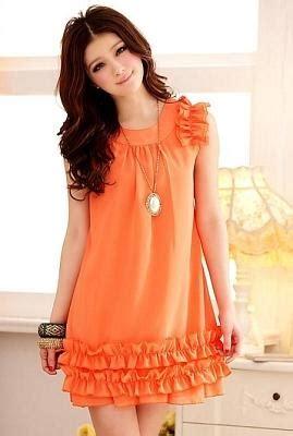 Dress Sw Pakaian Wanita Dress Korea Warna Orang Berkualitas antara sahabat dan kekasih style korea